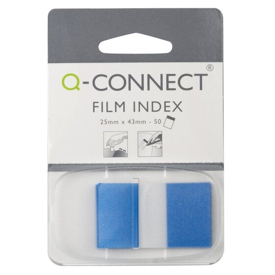 Q-Connect Index - 25 x 43 mm, blau